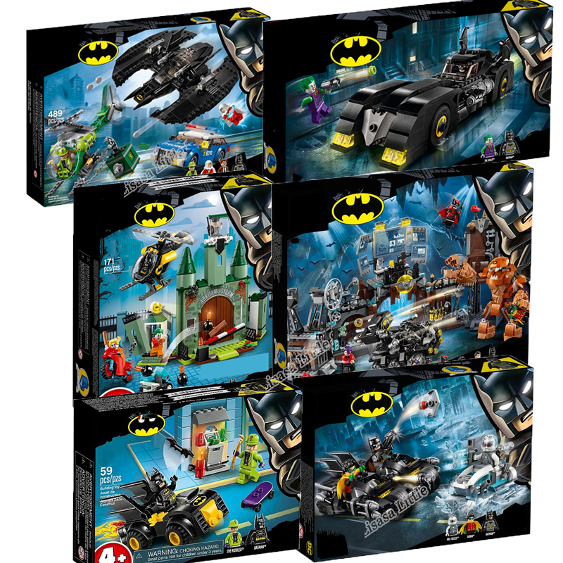 NEW Legoinglys Marvel Batman Super Hero Joker Lowrider Penguin Robbin Car Legoinglys Technic Building Blocks Toys Without Box