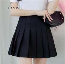 Женская плиссированная короткая юбка с высокой талией Студенческая