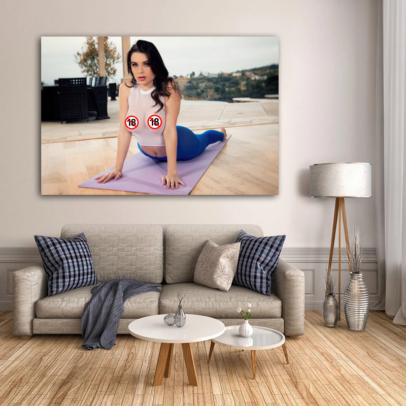 Adult Model Beauty Lana Rhoades Girl sexy Women Yoga Photo Wall Art Poster and Prints Canvas Art Painting For Room Decor 3