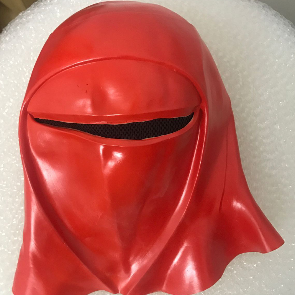 New Star Wars Imperial Guard Helmet Royal Guard Cosplay Red Mask Latex Full Head