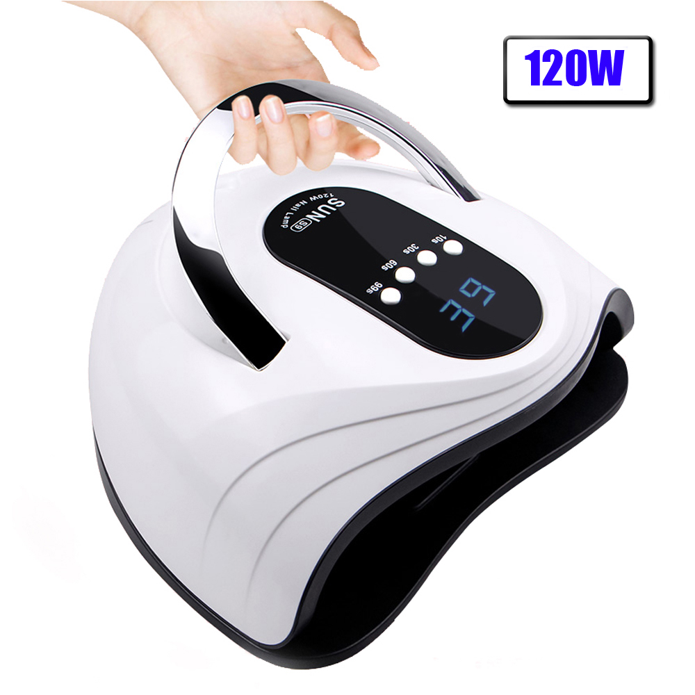 120/90/72/36W Nail Dryer LED Nail Lamp For Manicure With Auto Sensing LCD Display 42 Pcs Light Bead Quick Curing UV Lamp