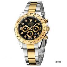 brand fashion classic quartz mens watch 2020 chronograph rubber belt date wristwatch rose gold metal watch men 45