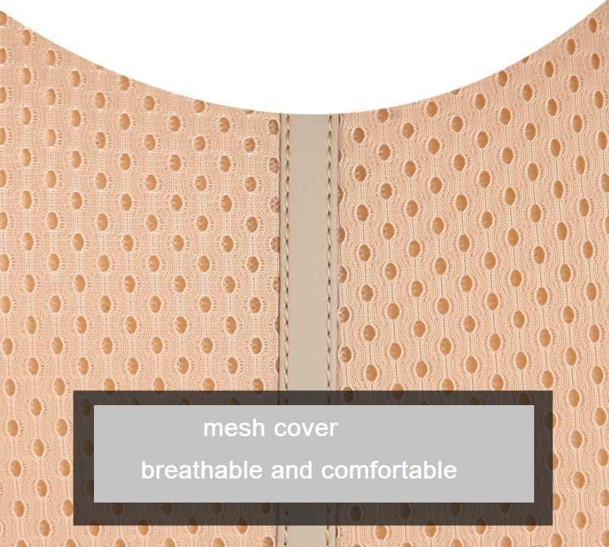 1 Conjunto 3D de malla suave comodidad de moda almohada de viaje cojín de asiento de coche almohada de apoyo Lumbar y cuello de coche almohada de memoria de algodón