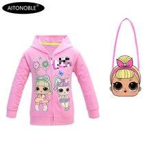 Aitonoble/ г. Новое осеннее пальто для девочек хлопковые толстовки с длинными рукавами детские свитшоты для детей, куртка принцессы для девочек, пальто
