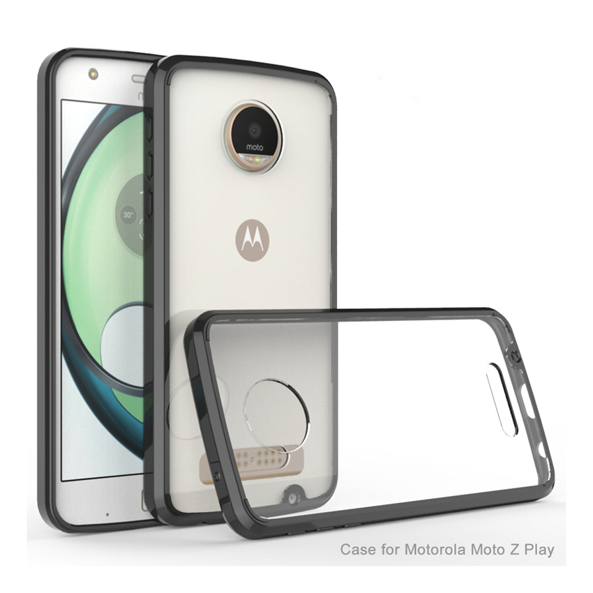 Slim Hybrid Shockproof Cover Luftkudde Ram Case Akryl Crystal Clear Back Shell Mask För Motorola Moto Z Spela Fundas Coque