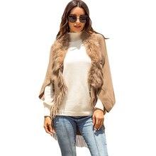 Fringed Cloak Shawl Fur Collar Cloak Solid Color Cardigan Sweater Winter Wool Soft Warm Plaid Scarf Wrap Shawl Oc9 plus shawl collar belted plaid romper