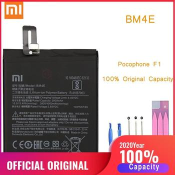Original Phone Battery for Pocophone F1 Battery Xiaomi Pocophone F1 BM4E Replacement Poco Batteries Xiomi bateria