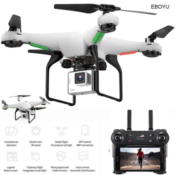 EBOYU L500 2.4Ghz RC Quadcopter 720P HD Camera Wifi FPV RC Drone 6-Axis Gyro One Key Return/Off/Land Altitude Hold Headless RTF