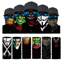 Magic 3D Print Cool Breathable Neck Gaiter for Men & Women Funny Face Mask Bandanas Rave Face Scarf