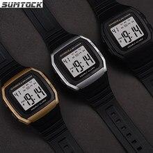 SYNOKE Einfache Uhr Männer Sport Digital Outdoor PU Wasserdicht Armband Mit Wecker Leucht Multifunktions LED Elektronische Uhr