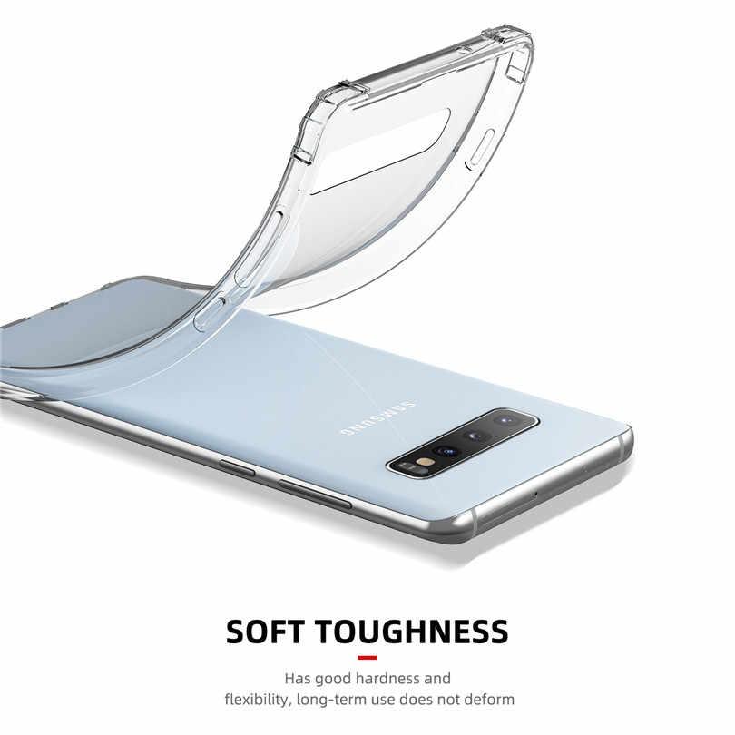 USLION Hava Yastığı Temizle Silikon Darbeye Dayanıklı Yumuşak Telefon samsung kılıfı Galaxy S10 S9 S8 Artı Not 9 8 A50 A30 M30 A8 a9 2018 Kapak
