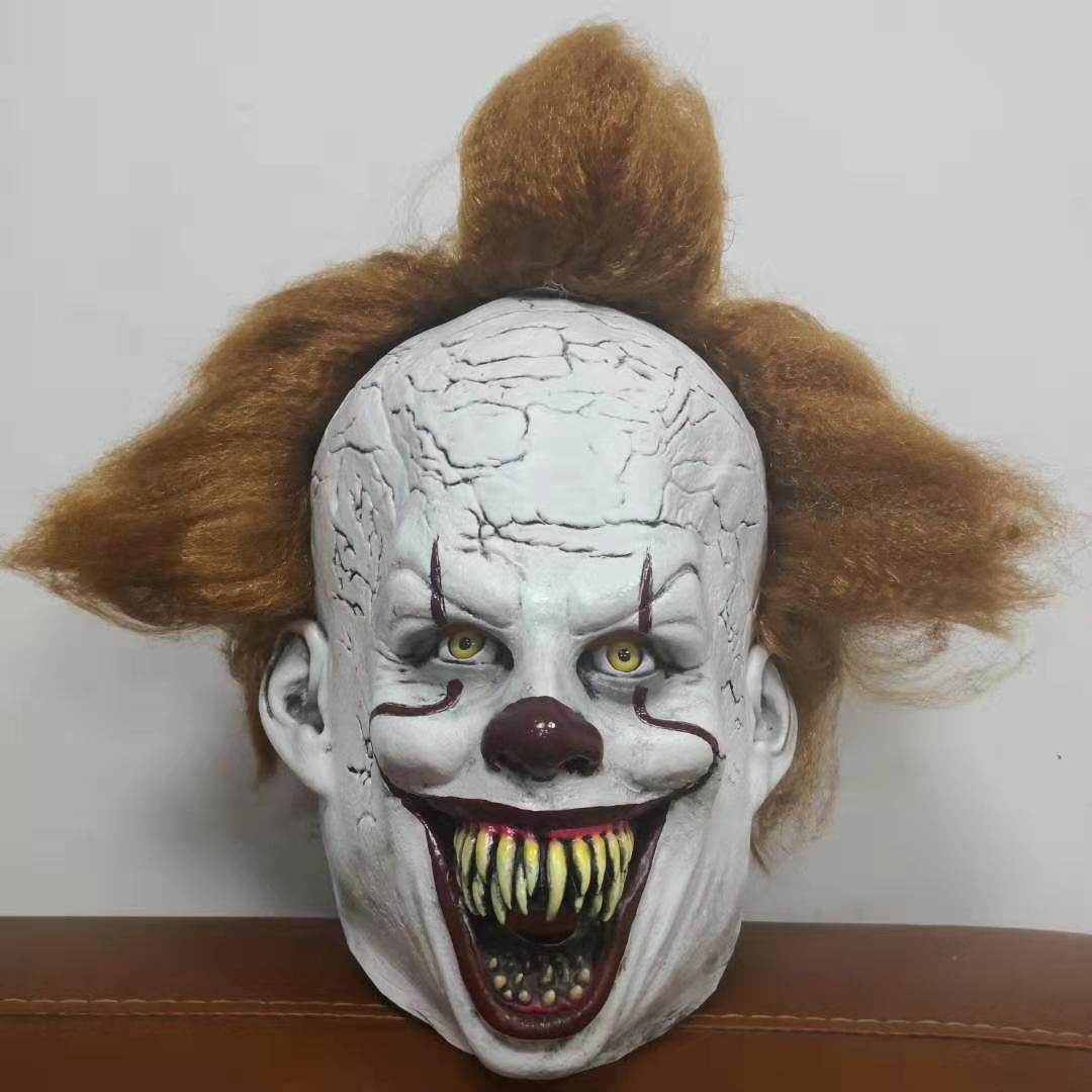 Pennywise IT Clown Joker Fancy Dress Halloween Latex Full Head Costume Zombie