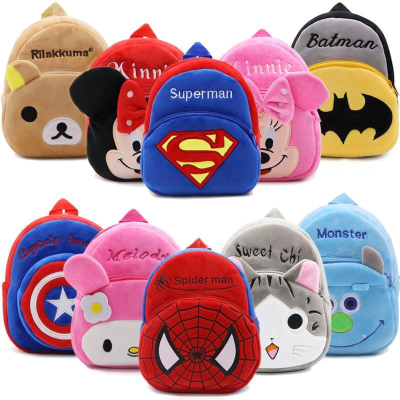 2019 Cartoon Kids Plush Backpacks Children Baby Mini Schoolbag Kindergarten Backpack Cute Children School Bags for Girls Boys бейсболк мужские