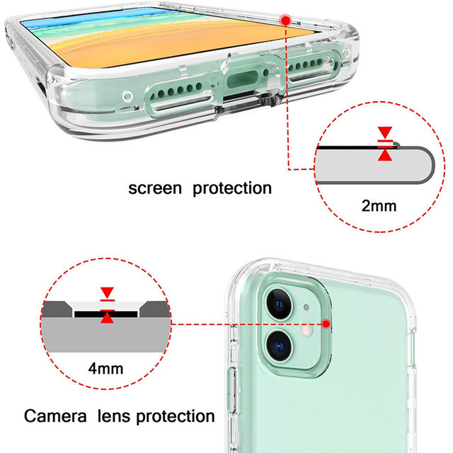 Full Body 360 Front Back Phone Case For Iphone 12 11 Pro Max 8 7 6s Plus Cover Transparent Coque For Iphone X Xr Xs 5s Se 2020 6
