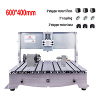 New 6040 CNC Frame kit 3 4 axis DIY Router PCB engraver engraving milling machine with stepper motor 57mm