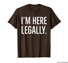 Camiseta mexicana pro-imigrante eu estou aqui legalmente