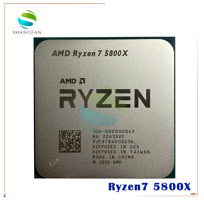 AMD Ryzen 7 5800X R7 5800X 3.8 GHz Eight-Core sixteen-Thread 105W CPU Processor L3=32M 100-000000063 Socket AM4 no fan