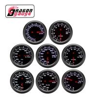 DRAGON 」-tacómetro de impulso de 52mm, voltímetro PRM, relación aire-combustible, temperatura del agua, presión de aceite, indicador de EGT, medidor de carreras apto para coche de 12V