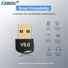 Kebidumei Adaptador USB Bluetooth V5.0, dongle inalámbrico de modo Dual, receptor de sonido de música Bluetooth, transmisor Bluetooth