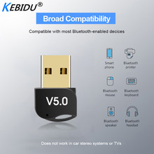Kebidumei Usb Bluetooth Adapter V5.0 Dual Mode Draadloze Bluetooth Dongles Muziek Sound Receiver Adaptador Bluetooth Zender
