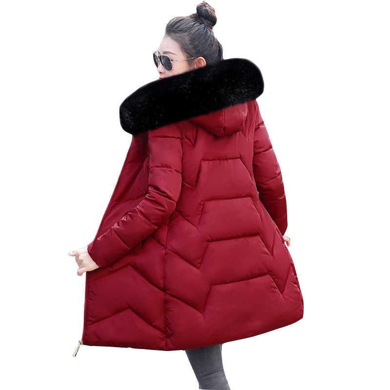 2020 ผู้หญิงฤดูหนาวยาวแจ็คเก็ตหญิงเสื้อแจ็คเก็ตฤดูหนาวที่อบอุ่น hooded ขนสัตว์ลง Parka mujer PLUS ขนาด 7XL kurtka damska