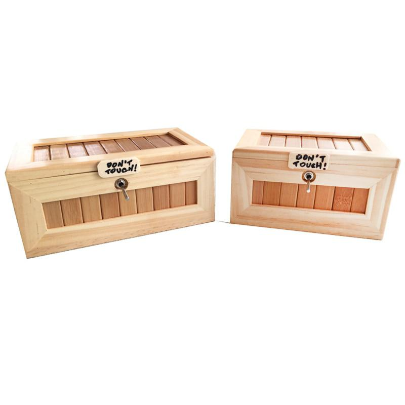 HobbyLane Wooden Useless Box Leave Me Alone Box Most Useless Machine Don't Touch Tiger Toy Gift With Light USB Charging