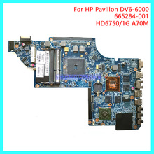 DUORUN For HP Pavilion DV6-6B DV6-6C Series DV6Z-6B00 DV6Z-6C00 Laptop Motherboard 665284-001 HD6750/1G A70M NB PC 100% full 682183 001 laptop motherboard for hp dv6 dv6 7000 682183 501 dv6z 7000 notebook ddr3 7730m 2g