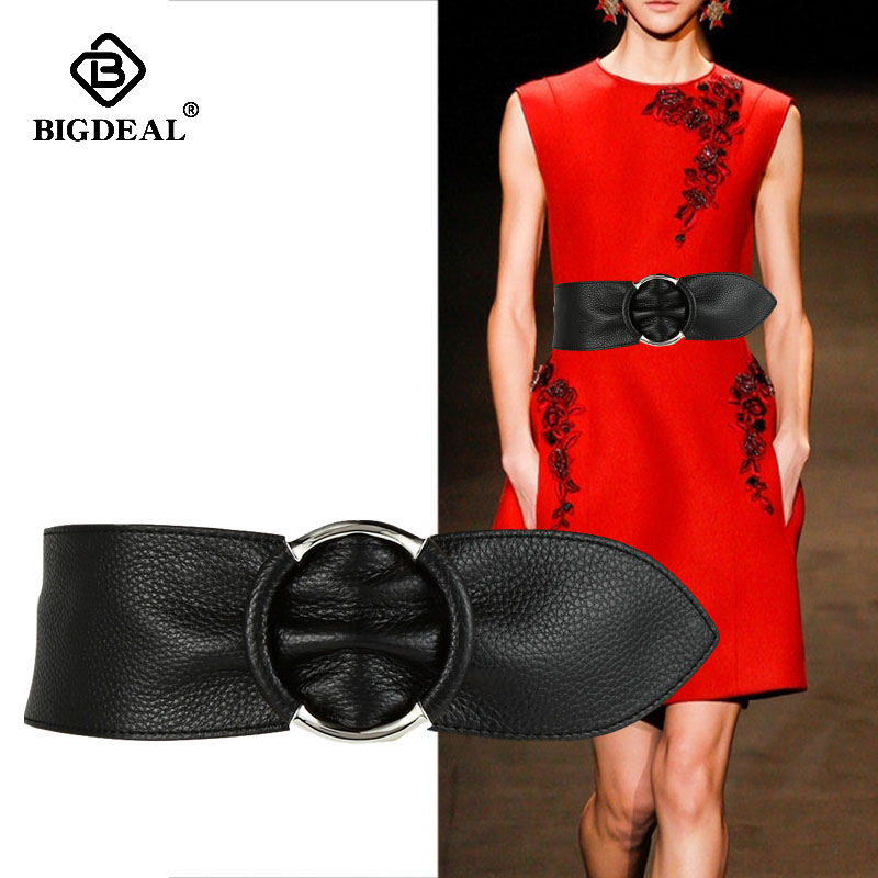 New Arrival Wide Corset Leather Belt Female Thin Waistband Red Black Leisure Belts For Women Dress Waistband Girdle Lady