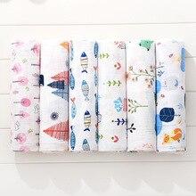 Новинка + хлопок + детские + одеяла + новорожденные + мягкие + органические + хлопок + детские + одеяло + муслин + пеленка + пеленка + кормление + отрыжка + ткань + полотенце + шарф + ребенок + вещи
