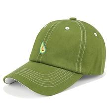 High Quality Avocado Fruit Green Baseball Cap Women Men Student Hat Adjustable Casquette