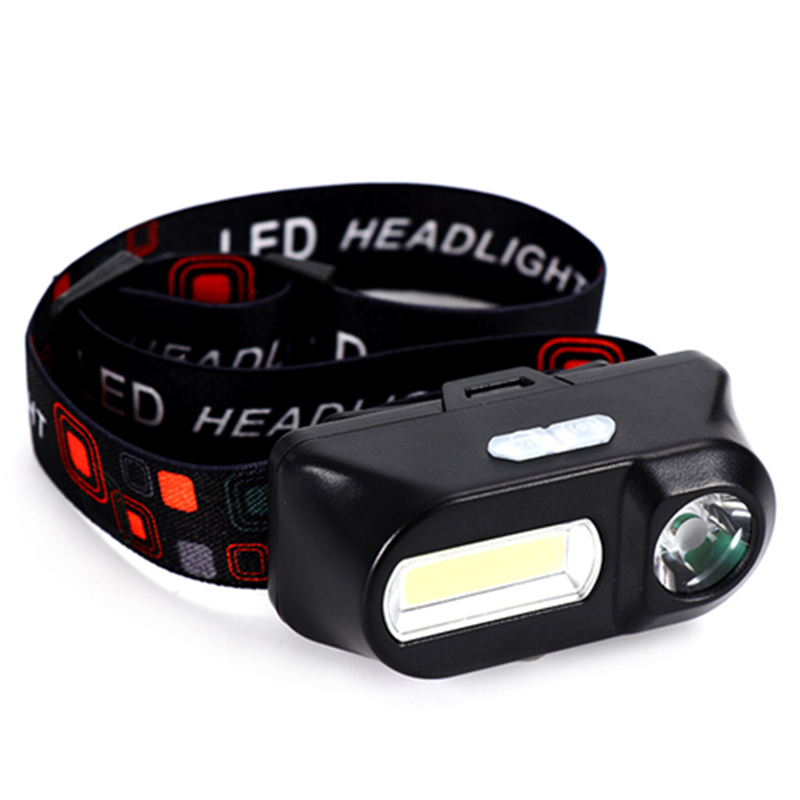 Mini Portable Flashlight Lantern Q5+COB Led Headlamp Multifunction Outdoor Hiking Camping Head Light With USB Cable