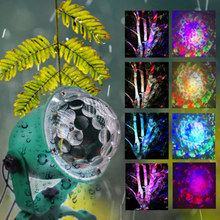 Multicolor Xmas Christmas LED Projector Water Wave Laser projection lamp Outdoor Waterproof Ground Light