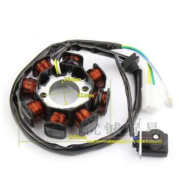 DC Ignition Stator Magneto Coil Generator 8 Poles for GY6 50CC 80cc 8 Pole Chinese Scooter Moped ATV Quad Pocket Bike gy6 coil 80cc engine coil magneto motor stator gy6 50cc8 pole ac gy6 generator
