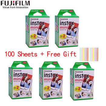 10-100 arkuszy Fuji Fujifilm instax mini 11 9 filmów biała krawędź 3 Cal szerokości filmu dla aparat natychmiastowy mini 8 9 11 7s 25 papier fotograficzny tanie i dobre opinie Jednorazowy aparat fotograficzny Natychmiastowa Kamery JP (pochodzenie) Film Zestawy