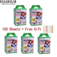 10-100 hojas Fuji Fujifilm instax mini 9 películas borde blanco 3 pulgadas de ancho película para cámara instantánea mini 8 9 7s 25 50s 90 papel fotográfico