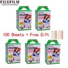 10/20/40/60/80/100 folhas fuji fujifilm instax mini 11 9 3 Polegada filmes de borda branca para câmera instantânea mini 8 9 11 7s papel de foto
