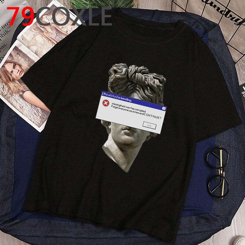 David Michelangelo Aesthetic T Shirt Men Hand Print Funny Cartoon T-shirt Cool Graphic Summer Tshirt Hip Hop Unisex Top Tee Male