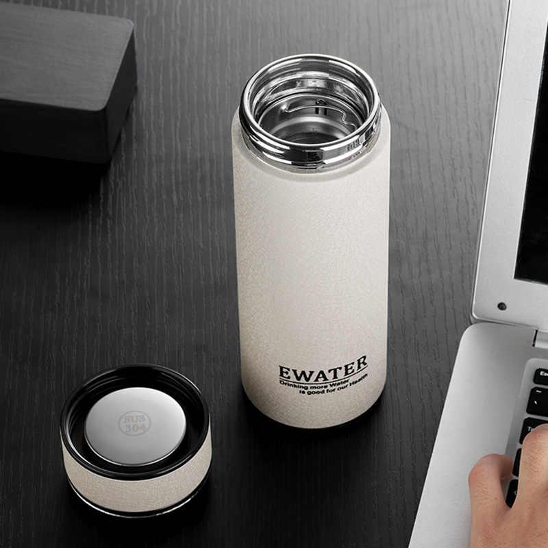 בקבוק ריק בקבוקי עסקים גבוהה בורוסיליקט זכוכית אניה תרמוס בקבוק 304 נירוסטה כוס תה מסנן נייד 320ML