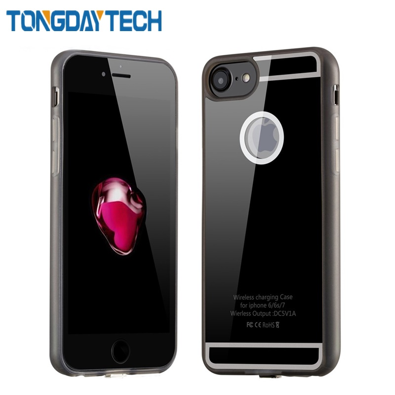 Tongdaytech <font><b>Qi</b></font> Wireless Charger Receiver Coque Phone Case For <font><b>iPhone</b></font> 7 <font><b>6</b></font> 6s Plus Case Wireless Charging Telefon Cover image