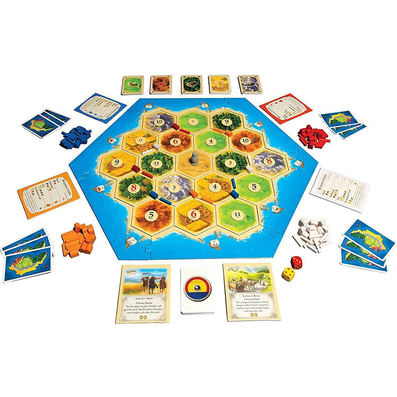 Full English Catan Board Game High Quality Family Fun Party Game Card Educational Theme For Home Party Table Game