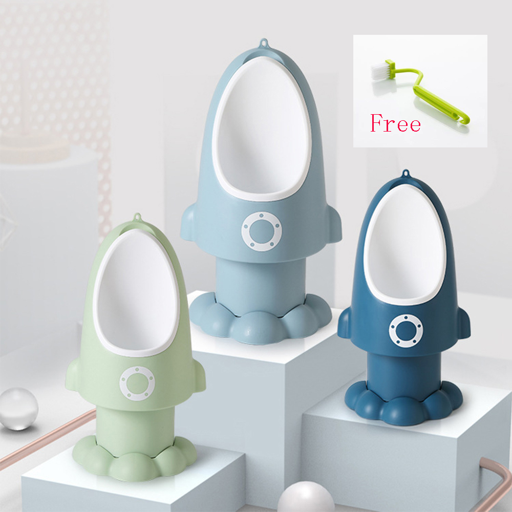 Baby Boy Potty Toilet Training Children Stand Urinal Boys Infant Cartoon Penico Pee Toddler Wall-Mounted Training Rocket Potty