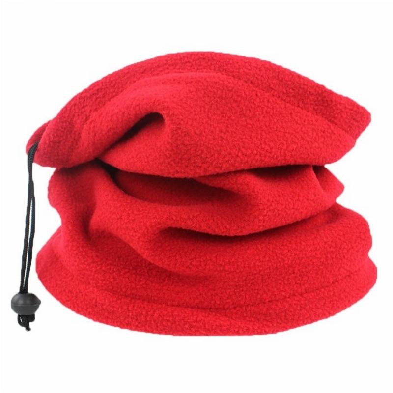 Fleece Scarf Face-Mask Neck-Warmer Ski Winter Women Snood Unisex 1PC Hats Beanie Spring