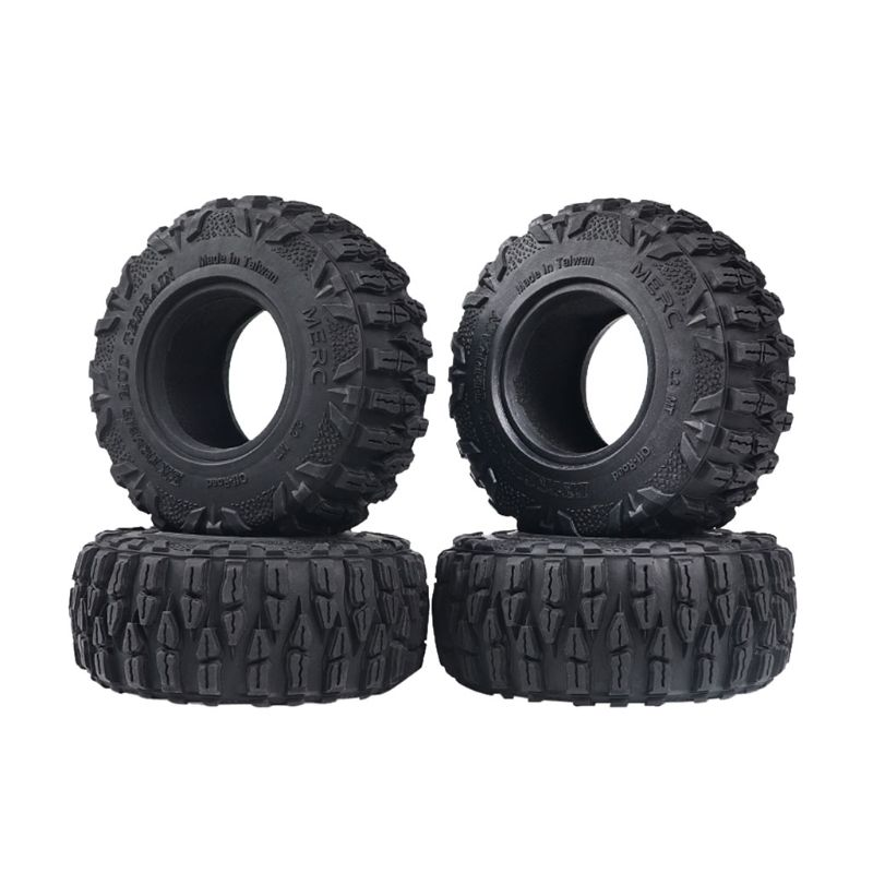 4PCS 2.2in Rubber Tyre <font><b>2.2</b></font> Wheel <font><b>Tires</b></font> 120x48MM for 1:10 <font><b>RC</b></font> Rock <font><b>Crawler</b></font> TRX4 Axial SCX10 90046 90047 image