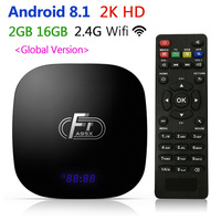 Smart TV Box Android 8.1 HD Video Media Player A95 F1 2GB RAM 16GB Set Top Box For Monitor With Remote Control Keyboard Global