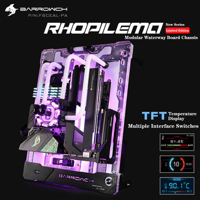 Barrowch Rhopilema Series Limited Edition Composite Channel Board FBCEAL-PA Water Cooling Case Program Latest Model New Arrive