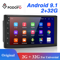 Podofo-Radio con GPS para coche, 2 Din, Android, bluetooth, audio estéreo, wifi, USB, FM, autorradio, para Volkswagen, Nissan, Hyundai, Toyota, CR-V, KIA