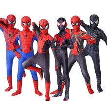 Pantimedias de Spider-Man para niños, disfraces y máscaras de Cosplay de Anime Siamés