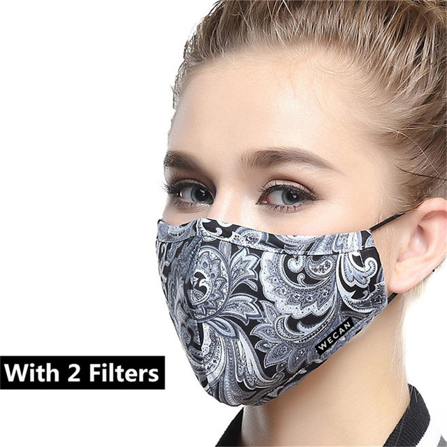 Wecan korean Cotton Anti Dust Mouth Face Mask PM2.5 Kpop Unisex maska with Carbon Filter Anti Pollen Allergy Flu Black Face Mask 4