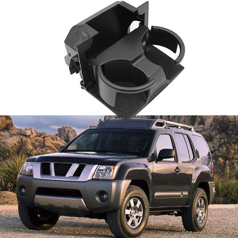 Gray Tepeng Rear Seat Center Cup Holder 96965-ZP00C Compatible with 2006-2012 Nissan Pathfinder,2006-2019 Nissan Frontier,2006-2015 Nissan Xterra