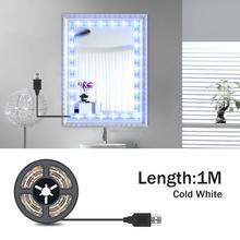 5M Vanity Mirror Lights LED Dressing Table Makeup Light USB 5V Cosmetic Lamp Hollywood Lighting LED Wall Lamp Flexible Lamp cheap NoEnName_Null CN(Origin) Switch LED Makeup Mirror Vanity Light Strip NONE 50cm 1m 2m 3m 4m 5m 30 60 120 180 240 300leds